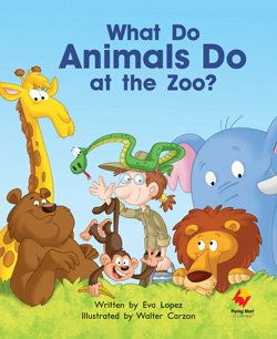 What do Animals do at the zoo?
